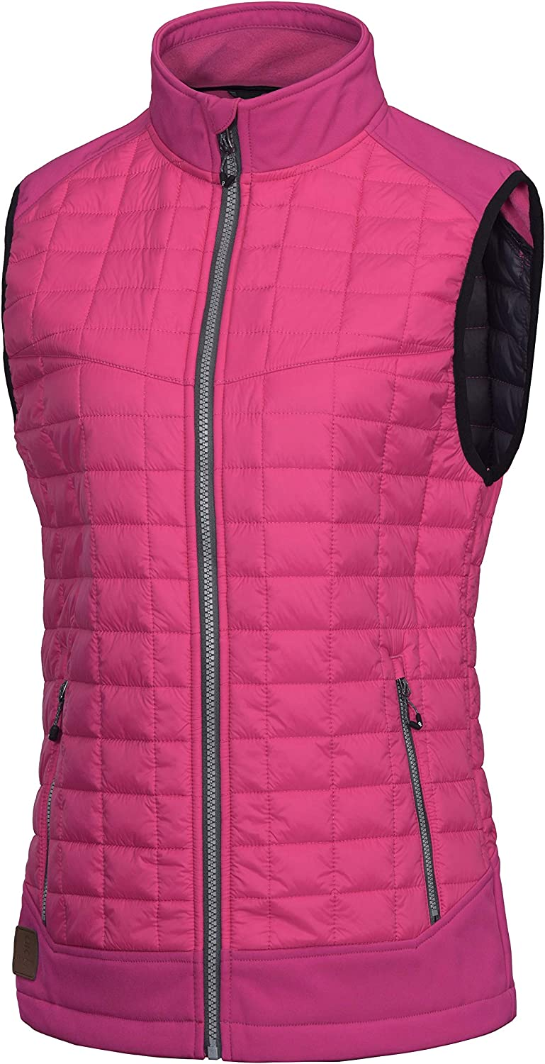 Little Donkey Andy Women's Lightweight Puffer Vest, Warm Outdoor Sleeveless Jacket for Hiking Travel Running Golf: Clothing