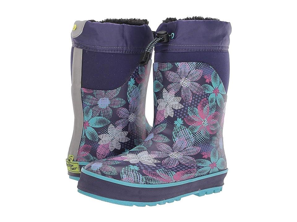 Western Chief Kids Ridge Mod Garden Neoprene Boot (Toddler/Little Kid) (Purple) Girls Shoes
