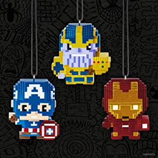Pop MInded SDCC 2018 Hallmark Event Exclusive Marvel Captain America, Thanos and Iron Man PXL8 Ornaments