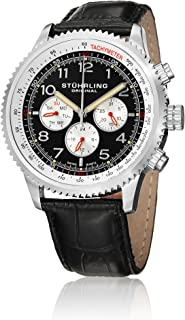 Stuhrling Original Concorso Silhouette Men's Dial Leather Band Watch - 858L.01