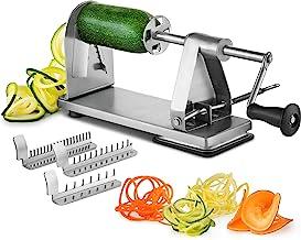 Mitbak Stainless Steel Vegetable Spiralizer Slicer | Industrial-Grade 3-Blade Zoodle Maker | Spiral Slicer Great for Salad, Low Carb, Vegan, Keto, Spaghetti | Gifts for Christmas
