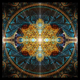 Sacred Geometry Tapestry   Wall Art   Flower of Life Wall Hanging   Sacred Geometry Art   Equilibrium