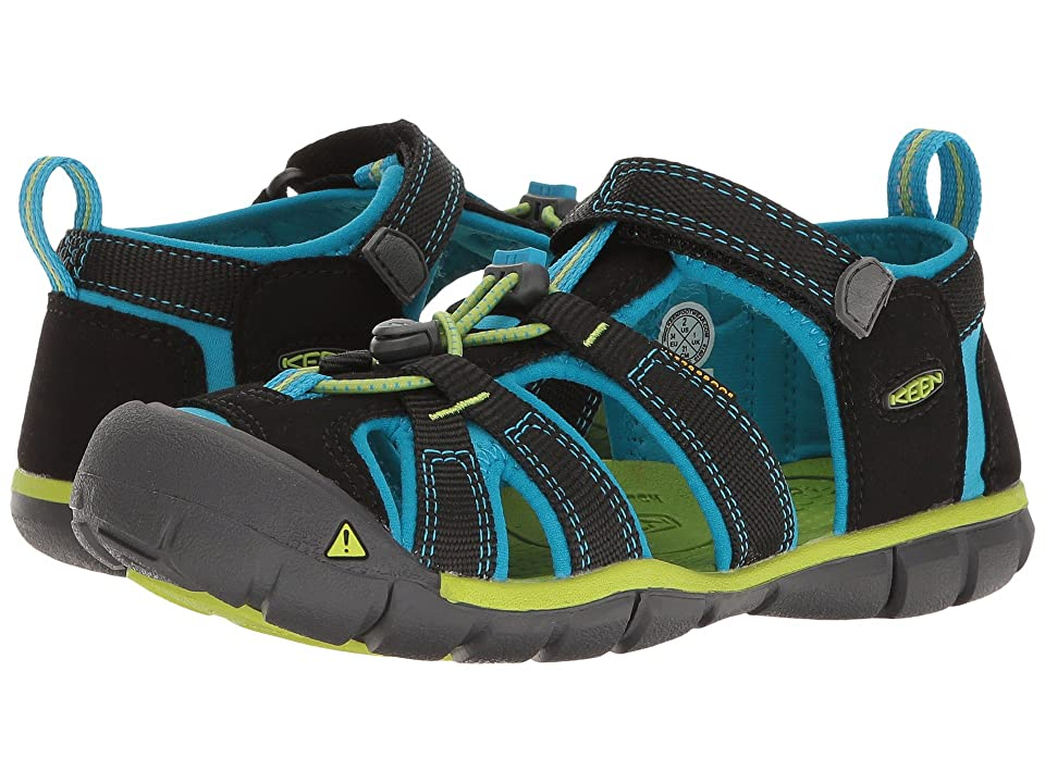 Keen Kids Seacamp II CNX (Little Kid/Big Kid) (Black/Blue Danube) Girls Shoes
