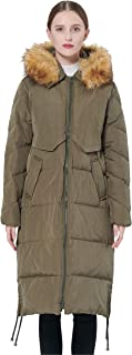 Orolay Women's Winter Drawstring Down Coat Removable Faux Fur