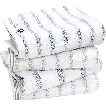 hiorie(ヒオリエ) 今治タオル 認定 フェイスタオル mist ミスト 4枚セット アソート2色01 日本製 ボーダー 今治ブランド 瞬間吸水 速乾 部屋干し 綿100% 柔らか ソフト imabari towel