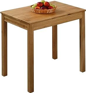 Krok Wood Table à Manger en chêne Tomas en Bois Massif (75 x 50 x 75 cm)
