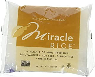 Miracle Noodle Miracle Rice - Plant Based Shirataki Rice, Keto, Vegan, Gluten-Free, Low Carb, Paleo, Dairy Free, Low Calor...