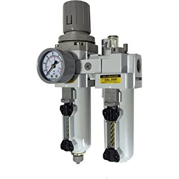 "PneumaticPlus Compressed Air Filter Regulator Lubricator 1//2/"" NPT SAU4010M-N04G"
