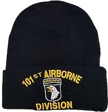 US Military 101st Airborne Division Black Skull Beanie Officially Licensed Cap