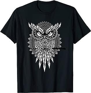 Spiritual Owl Mandala Forest Night Wisdom T-Shirt
