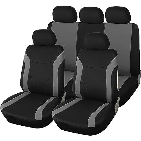 Schwarz-graue Dreiecke Sitzbezüge für FORD FUSION Autositzbezug Komplett