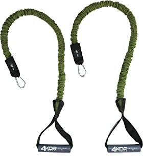 4KOR Fitness Resistance Cords Includes One Pair of Resistance Cords for Strengthening Core and Shoulders