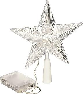 BenefitUSA Christmas Tree Light Top Star Topper Table Lovely Shiny Xmas Decorative