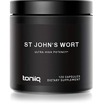 1,000mg Ultra High Strength St. John's Wort Capsules (Non-GMO) - 7X Concentrated Extract - The Strongest St Johns Wort Capsules Available - 0.3% Hypericin - 120 Capsules