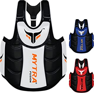 Mytra Fusion Chest & Belly Protector Body Shield Body Armor Body Pad Body Protector Chest Ribs and Belly Protector for Boxing MMA Muay Thai Fitness Gym Workout