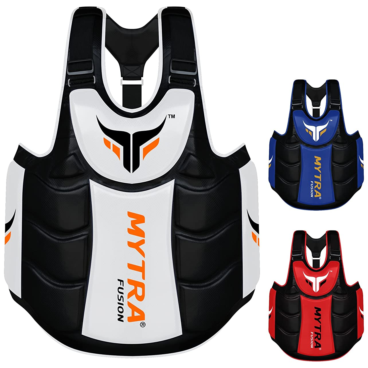 Mytra Fusion Chest & Belly Protector Body Shield Body Armor Body Pad Body Protector Chest Ribs Belly Protector Boxing MMA Muay Thai Fitness Gym Workout llqehomqgds46