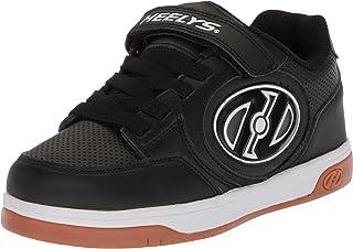 Heelys Boys' Plus X2 Tennis Shoe Black/White/Gum 1 M US Little Kid