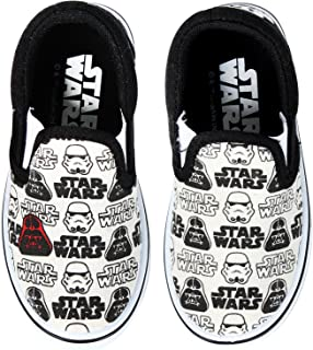 Joah Store Boys Girls Slip-on Sneakers Shoes Mickey Mouse Star Wars Elsa Avengers Sofia Characters