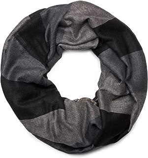 dise/ño de amapolas Bufanda de raso para mujer color negro Sincerelyforyou