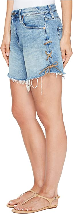 Blank NYC - High-Rise Denim Shorts in Mind Mischief