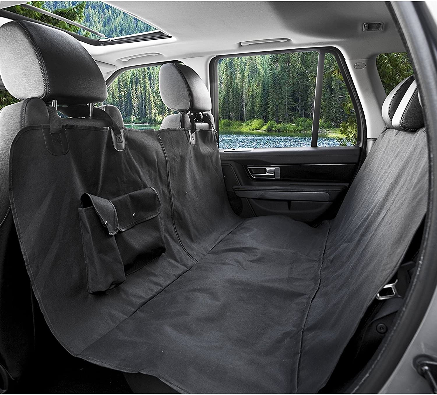 Bigear Pet Car Seat Cover, Waterproof Fabric Pet Seat Cover Predector Hammock Bed Mat Washable Dog Cat Safety Travel Blanket Cover for Car Truck SUVBlack