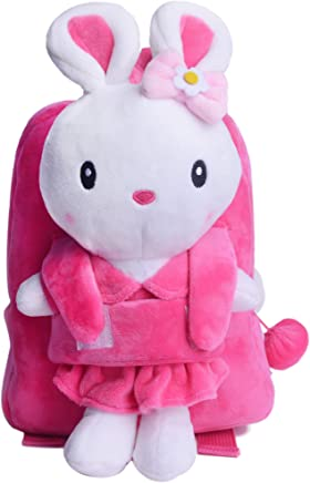 Gloveleya Easter Bunny Rabbit Plush Kids Backpack Shoulder Bags Gifts for Kids Under 5 Years Old