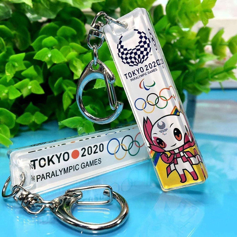 SZLGPJ Olympic Keychain Mascot El Paso Mall Car Acrylic Pendant Indianapolis Mall Souv