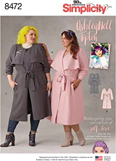 Simplicity Creative Patterns US8472G5 Asley Nell Tipton Women's Coats, G5 (26W-28W-30W-32W-34W)