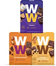 WW Classic Mini Bar Variety Pack - Chocolate Caramel, Chocolate Peanut Butter, S'Mores - 2 SmartPoints - 12 of Each Flavor (36 Count Total) - Weight Watchers Reimagined