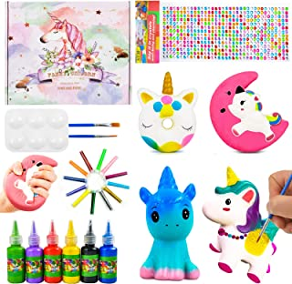 DIY Painting Unicorn Kit Arts and Crafts Set, Squishies Painting Kit for Boys Girls Toddlers, Arts and Crafts Gifts for Ch...
