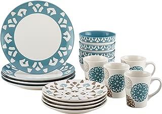 Rachael Ray Dinnerware Pendulum 16-Piece Stoneware Dinnerware Set, Print