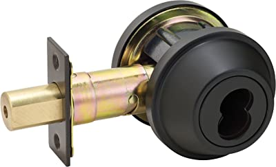 Master Lock DSCICSD10B Heavy Duty Single Commercial Cylinder Grade 2 SFIC Deadbolt, Oil Rubbed Bronze Finish