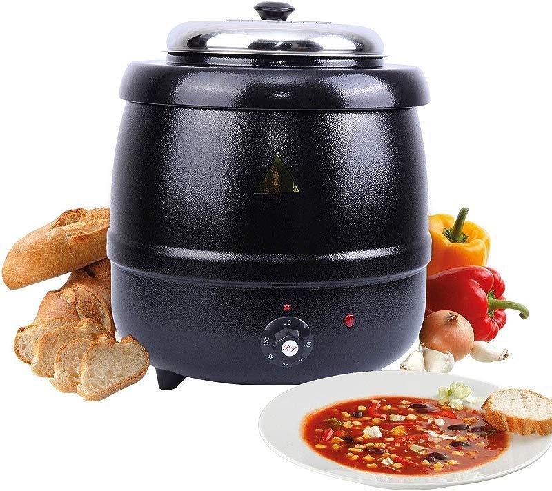 Chitacharoen Black Soup Kettle Warmer Commercial 10L Catering Kitchen Heater Electric Pot 10L
