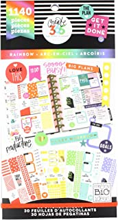 me & my BIG ideas PPSV-11-2048 Create 365 The Happy Planner Sticker Value Pack Planner, Classic Rainbow