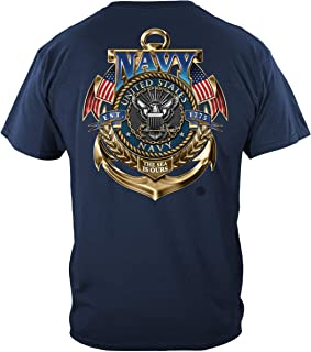t Shirts | Navy The Sea is Ours T Shirt MM130