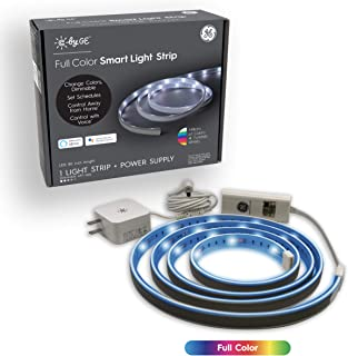 C by GE 80-inch LED Light Strips - Full Color Changing Lights Strip, Party Lights, LED Lights for Bedroom, Bluetooth Enabled, Works with Alexa and Google Assistant, Power Supply Included