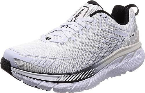 Hoka Chaussures de Course pour Homme Blanc Blanc