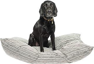 MOG & BONE Futon Dog Bed Oatmeal Stripe Print Small