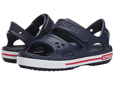 Crocs Kids Crocband II Sandal (Toddler/Little Kid) (Navy/White) Kids Shoes