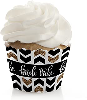Bride Tribe - Bridal Shower & Bachelorette Party Cupcake Wrappers - Cupcake Decorations - Set of 12