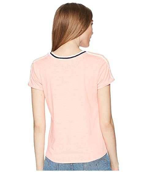 Rose Short Tie Tee Sleeve Pink Front xBSvzwYwq