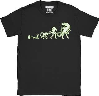 Hombre Brilla en la Oscuridad Alien Evolution Camiseta