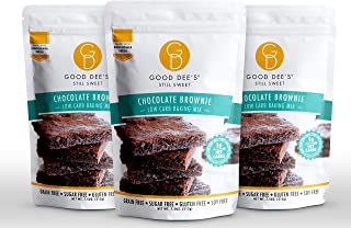 Good Dee's Chocolate Brownie Mix (3 pack) - Low Carb Keto Baking Mix (1g Net Carbs, 12 Servings)   Sugar-Fr...