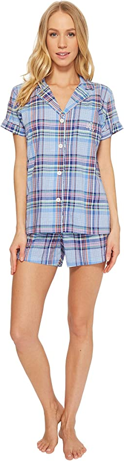 LAUREN Ralph Lauren Notch Collar Boxer PJ Set