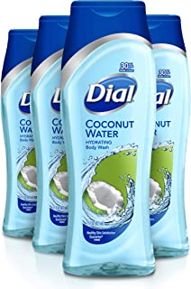 Dial Body Wash, Coconut Water, 21 Ounce (Pack of 4)