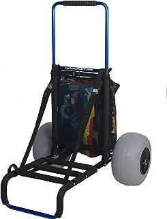 Mybeachcart Foldable Beach Cart Trolley Big Wheels Balloon Tires for Sand Heavy Duty