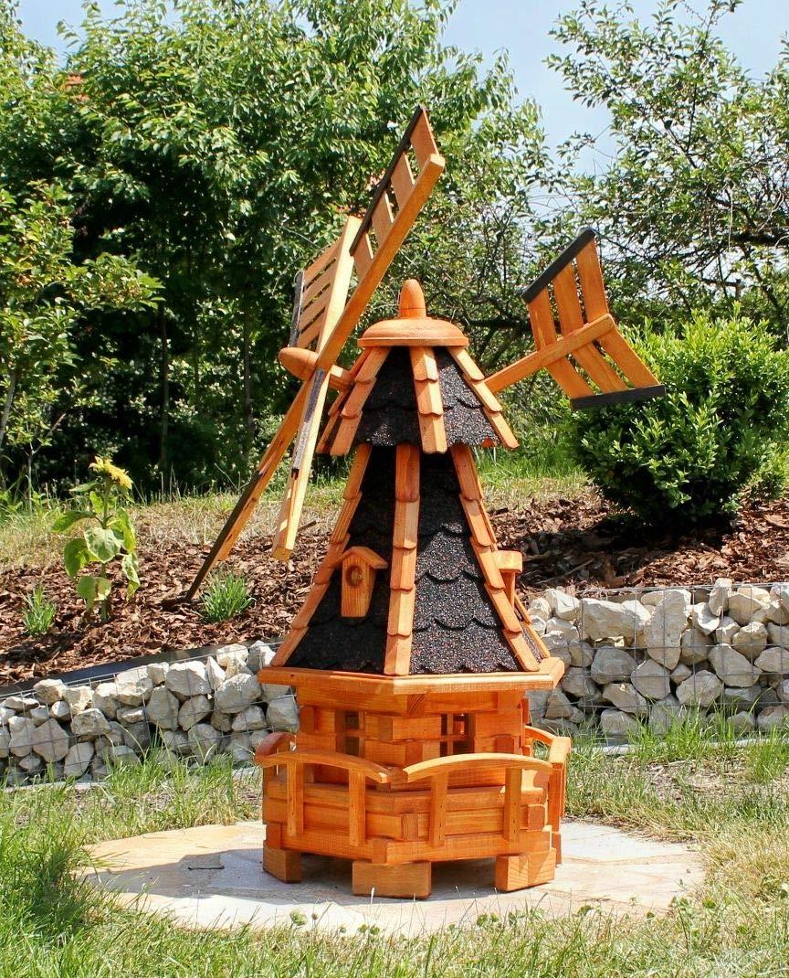 Madera Molino de viento Negro Tipo 11.1: Amazon.es: Jardín