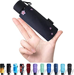 Fidus Upgraded Mini Travel Sun&Rain Windproof Umbrella - Lightweight Compact Portable Parasol Outdoor Umbrellas for Men Women Kids