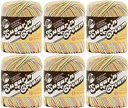 Lily Sugarn Cream Yarn Bulk Buy Ombres (6-Pack) Butter Cream 102002-222