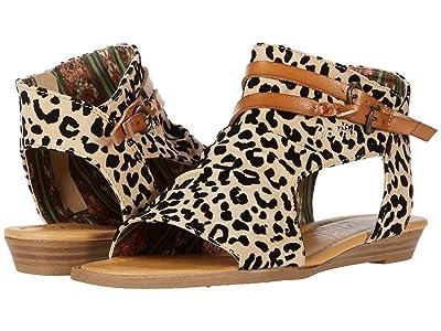 Blowfish Kids Blumoon-K (Little Kid/Big Kid) (Dt. Sand Leopard Grasslands PU/Dyecut) Girls Shoes